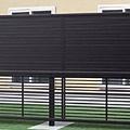エクステリア フェンス 2段支柱T150黒