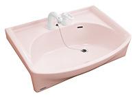 洗面化粧台Jolie カウンター ピンク
