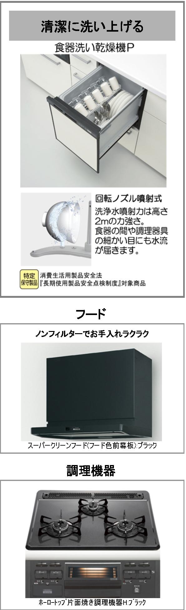 キッチンクラッソ 特長①