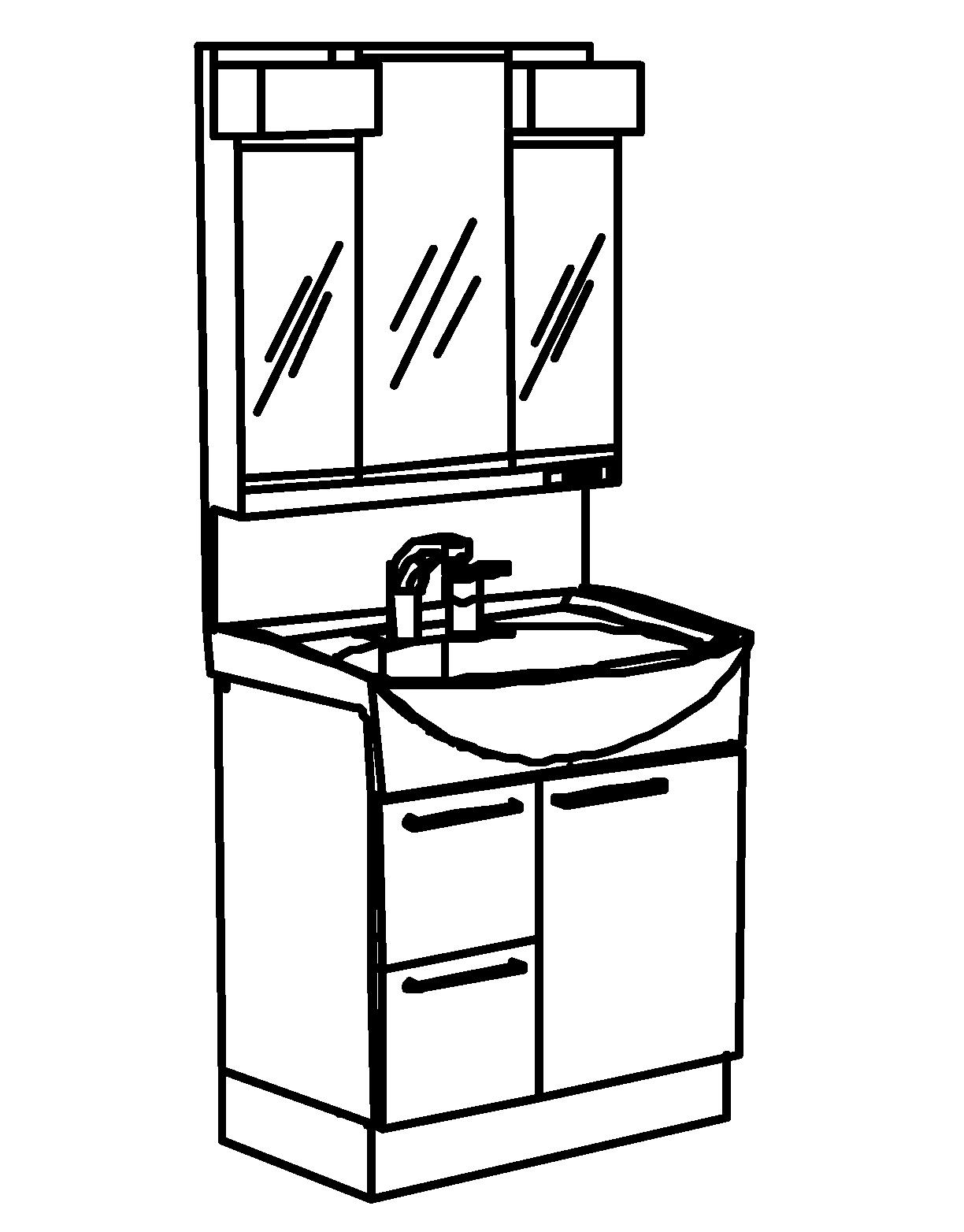 洗面化粧台Jolie レイアウト図